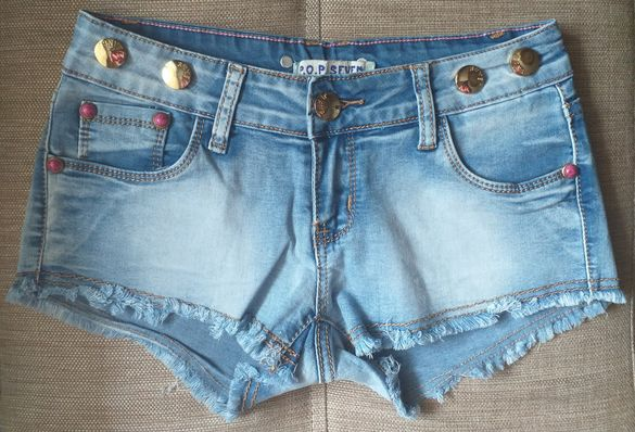 Дънкови къси панталонки
