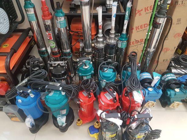 Насосы для воды скважинные, насосы для атопления сборка.