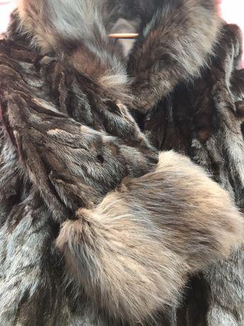 Палто и шапка от визон с лисица
