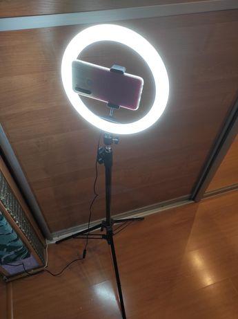 Кольцевая лампа 26 см со штативом 2 м
