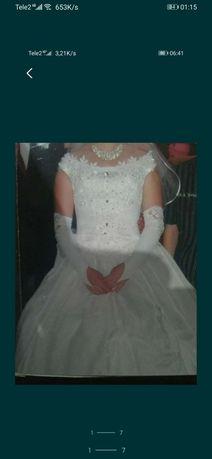 Продам свадебное платье б/у за 10 000 тенге