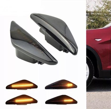 Lampa lampi semnal aripa led dinamic negre fumuri BMW X3 F25 X5 E70 X6