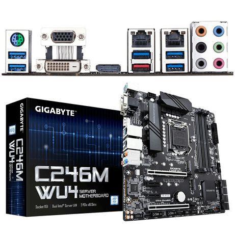 Мат.плата GIGABYTE C246M-WU4, LGA 1151, Micro-ATX, поддержка ECC