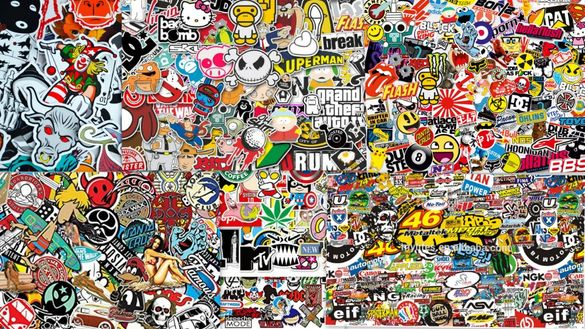 Супер bomb стикери за лаптоп, скейтборд, мотор, велосипед, каска и др.