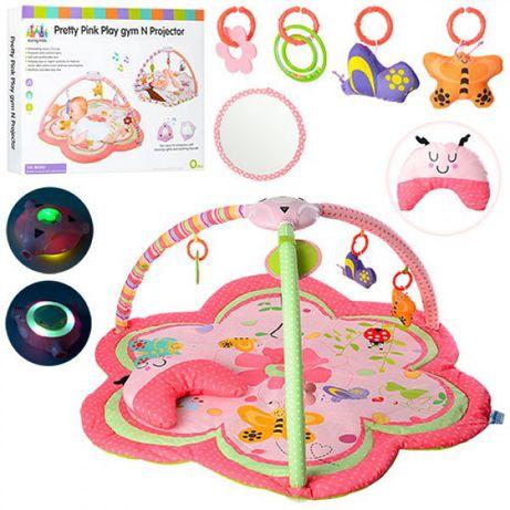 Активна гимнастика за бебе Pretty Pink Play Gym N Projector