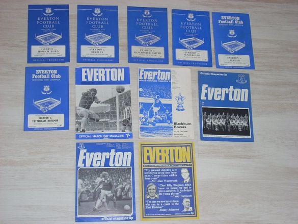 ЕВЕРТЪН оригинални футболни програми от 1964,1965,1966,1967,1968,1969