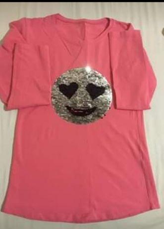 Детска памучна блузка с менящи се пайети