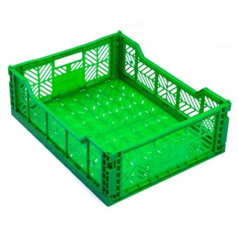 Пластмасова сгъваема касетка за плодове и зеленчуци