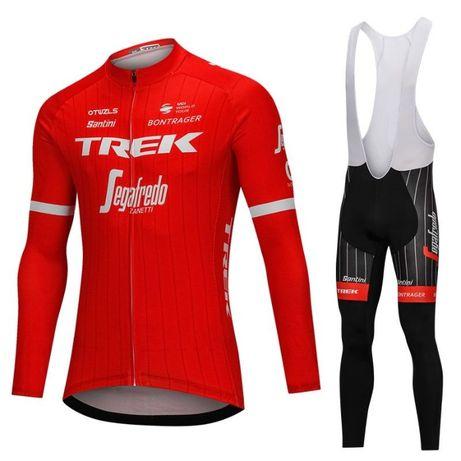 Echipament ciclism Trek segafredo iarna toamna set nou bluza pantaloni