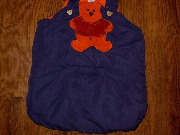 Бебешко чувалче за количка или кошница за кола.Без следи от употреба