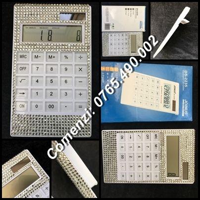 Calculator solar electronic birou femei afaceri cristale Swarovski