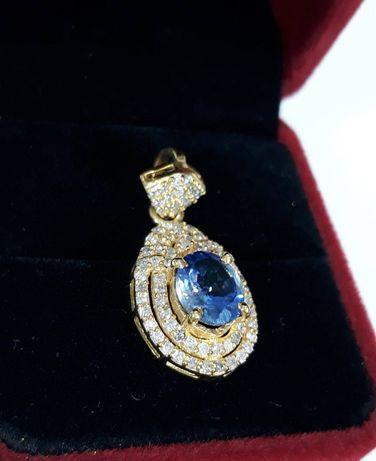 Pandantiv Tanzanit/Diamante naturale cu Certificat origin.