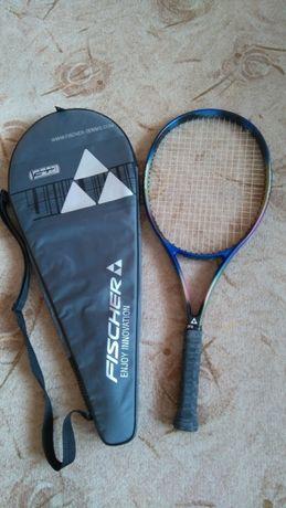 2 бр графитни ракети за тенис на корт Fischer и Volkl с калъфи
