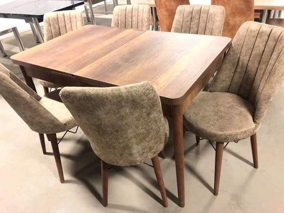 Комплект разтегателна маса +6 стола