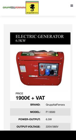 Generator electric 6,5kw