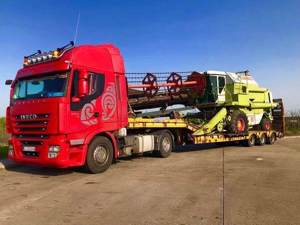 Efectuez transport - inchiriez trailer platforma utilaje