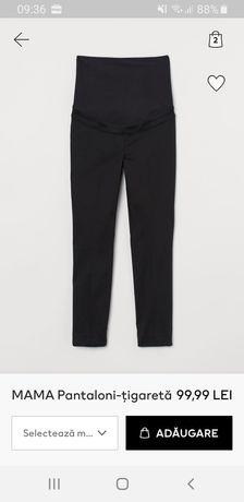 Pantaloni gravide stofa H&M