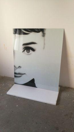 "Sticla ""printata"" tablou"