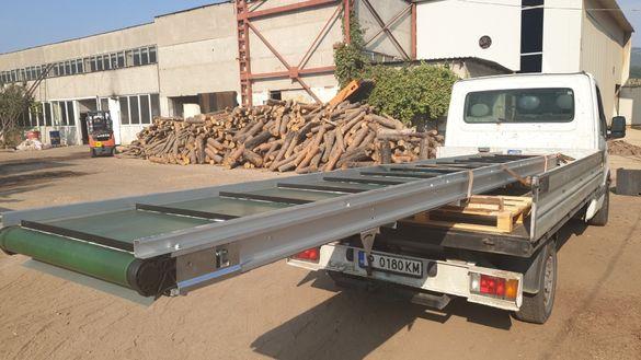 Транспортна лента - Лентов транспортьор на склад