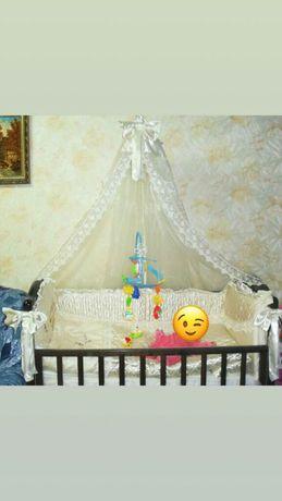 Детский постельный набор. Шелк.