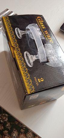 Хрусталь посуда 2 шт новый в коробке