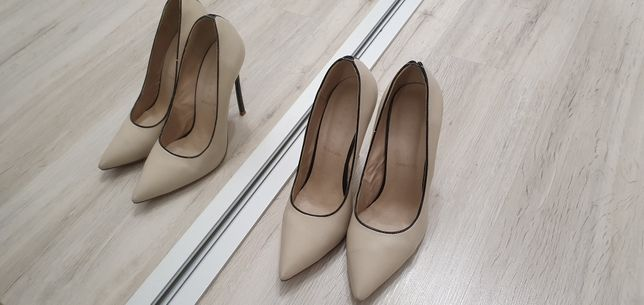 Pantofi piele toc 12cm