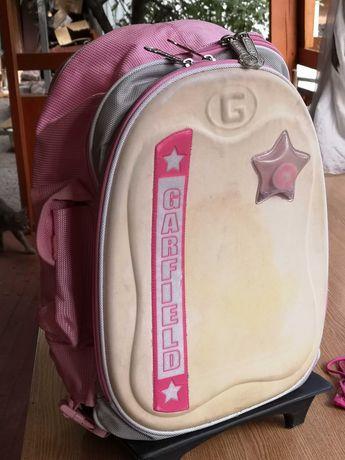 Рюкзак школьный на колёсиках для девочек бу