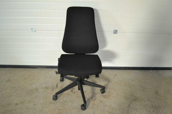 Немски офис Стол черен текстил