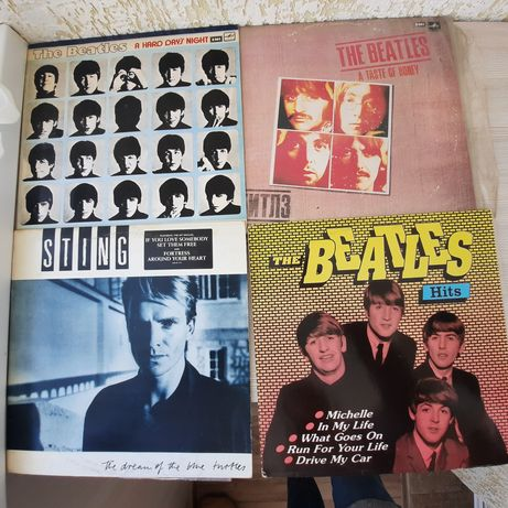 Пластинки the Beatles и Sting