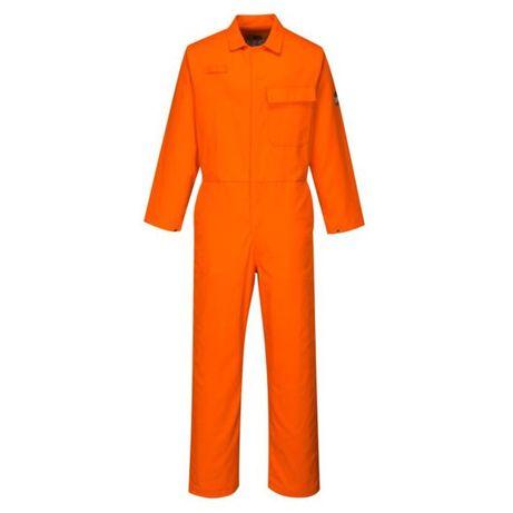 Оранжев работен гащеризон с ръкави
