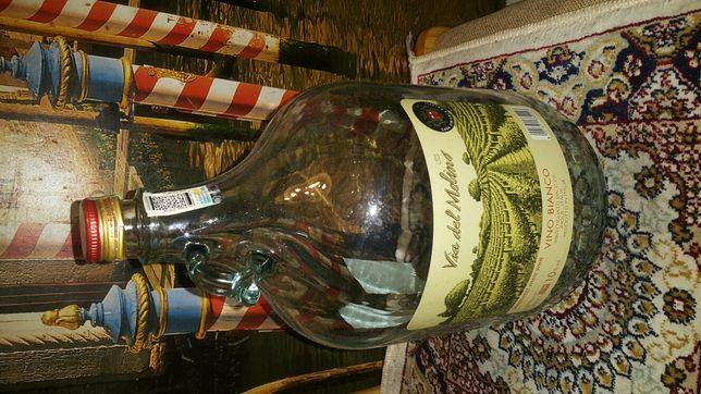 Бутыль стеклянный 5л для вина