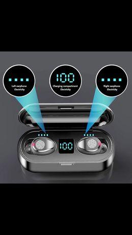 Casti fara fir Bluetooth 5.1, touch pe casti, rezistent apa, wi-fi
