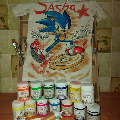 Краска по ткани и всё, что нужно для начала своей творческой карьеры!