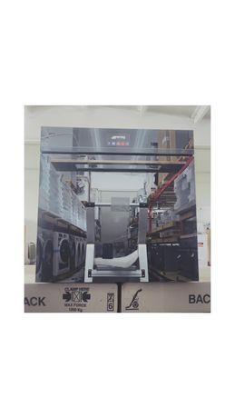 SMEG Cuptor electric incorporabil, Piroliza, Silver-Full Glass, Linea