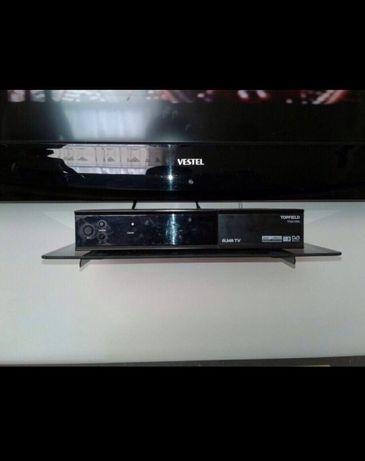Полка стеклянная под телевизор для ресивера, тюнер, Sony PlayStation