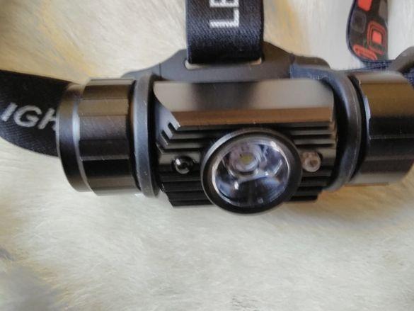 ---Супер мощен LED челник, . Акумулаторни батерии,от 20 до 500 лумена,