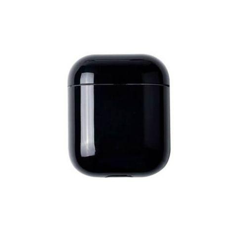 Husa pentru carcasa suport protectie casti Apple Airpods, neagra