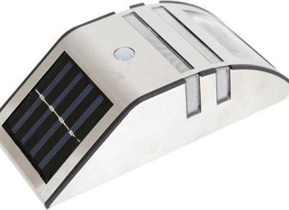 Соларен иноксов аплик със сензор за движение.
