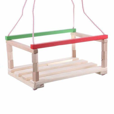 Leagan din lemn cu spătar pentru copii