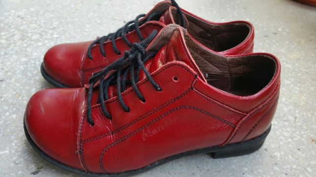 Pantofi de piele fetite