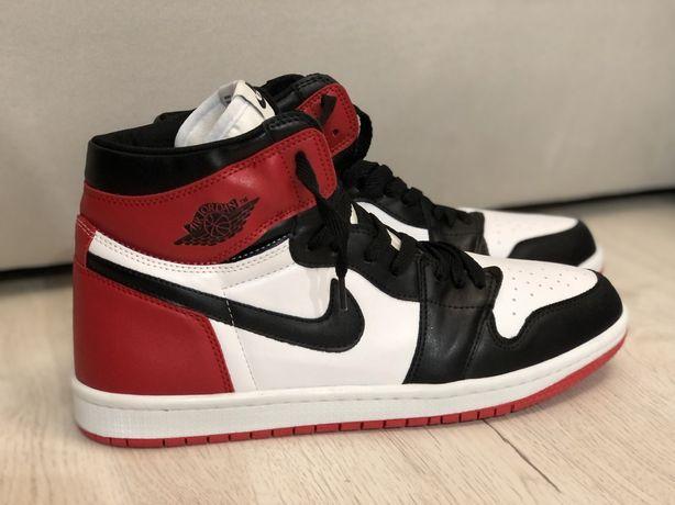 Adidasi Sneakers Nike Air Jordan 1 Black Red Retro 100% piele