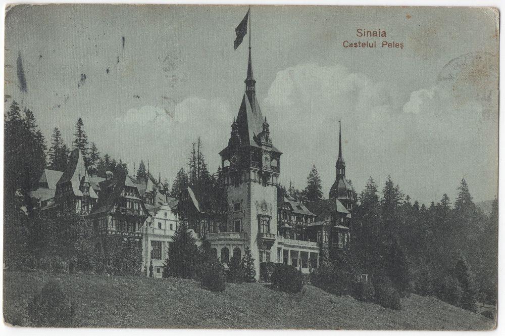 Carte poștală - 1913 Castelul Peleș