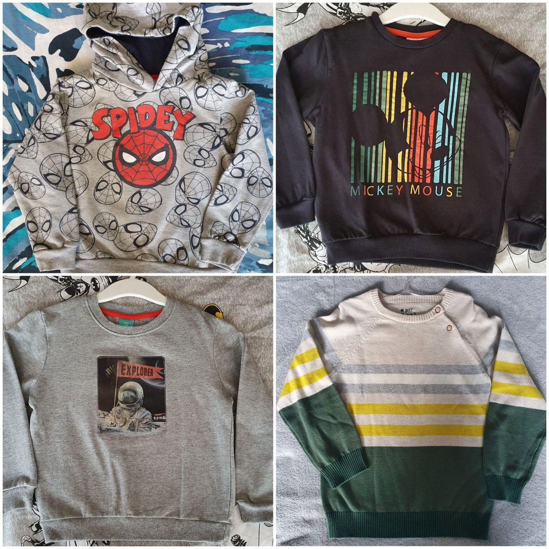Есенно-зимна блуза Spiderman 110рр,пуловер и блузки Мики маус 116см