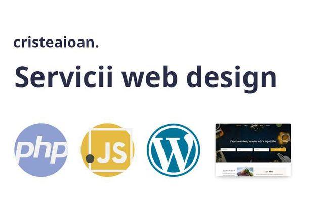 Ofer servicii web design/web development