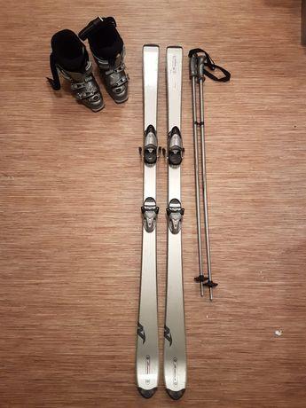 Лыжи Nordica, крепления, ботинки, палки