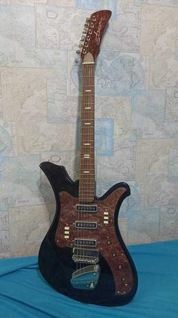 Гитара электрогитара «Аэлита» 6 струнная производство СССР г. Люберцы