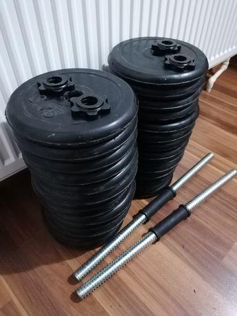Set gantere cauciucate 60kg