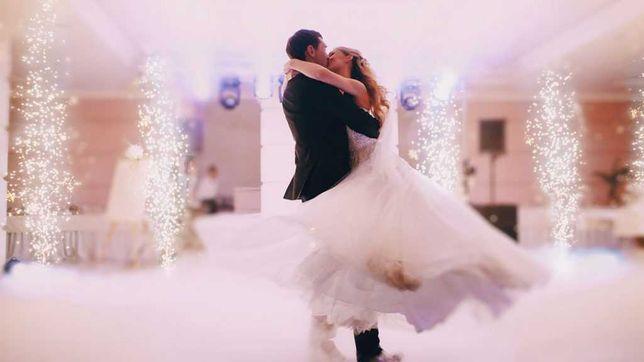 Fum greu cu gheață carbonica dansul mirilor - Cabina foto - Photobooth