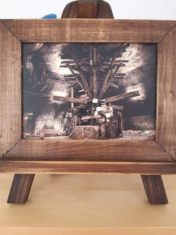 Sevalet de lemn cu imagine Salina Turda