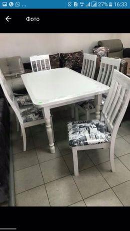 Стол и стулья для кухни цена 85000 тг